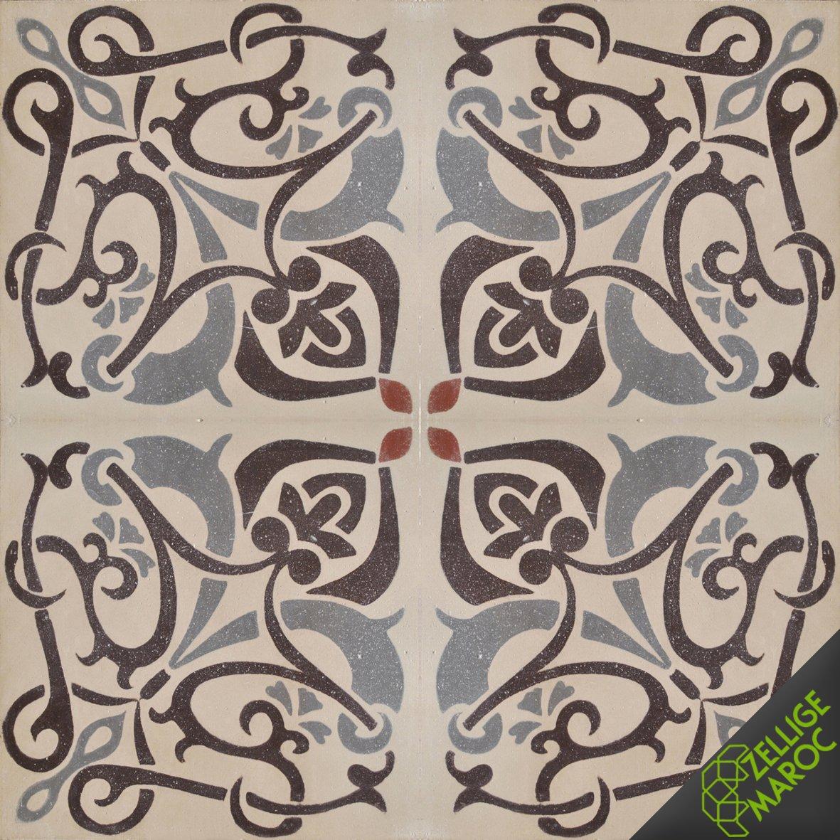 carreaux ciment n02 zellige maroc. Black Bedroom Furniture Sets. Home Design Ideas