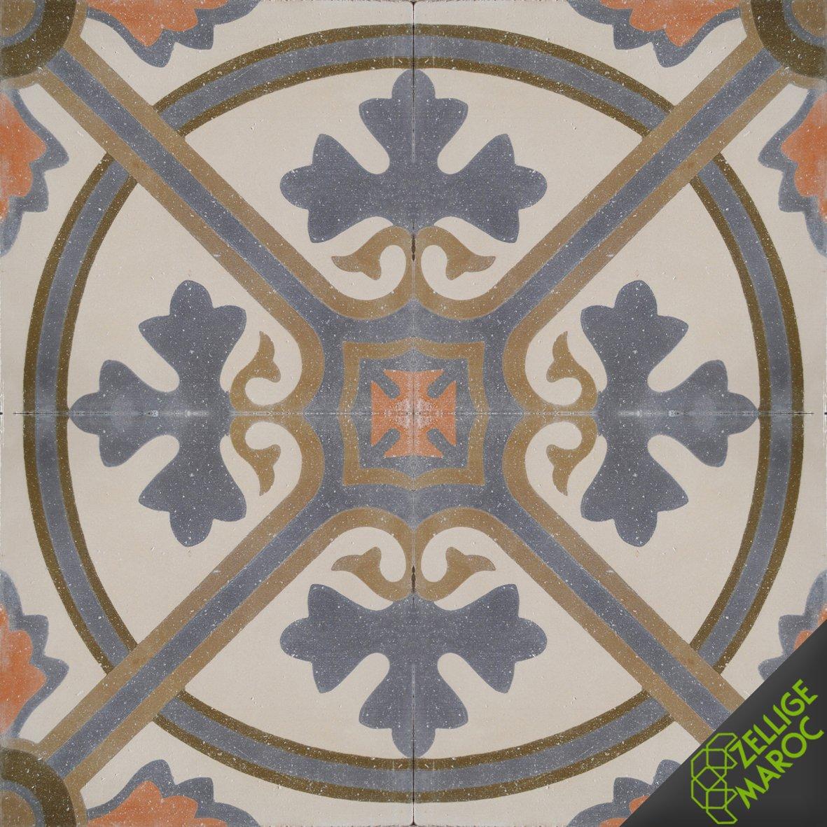 Carreaux ciment t61 zellige maroc - Carreaux ciment maroc ...