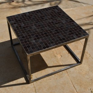 Table basse zellige graphite