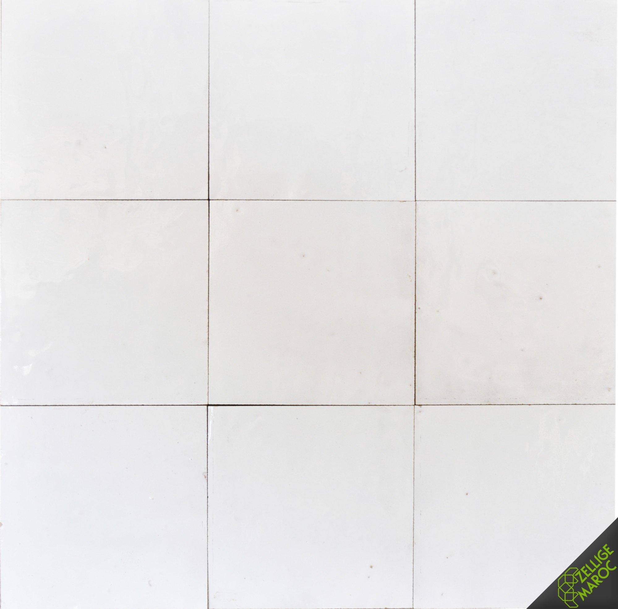 Snow white zellige tile n 1 zellige maroc - Texture carrelage blanc ...